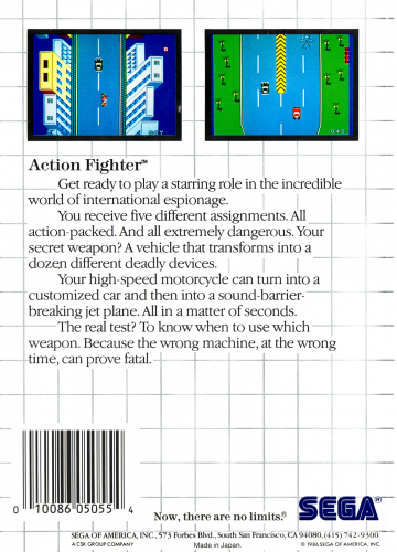 Action Fighter Back Boxart