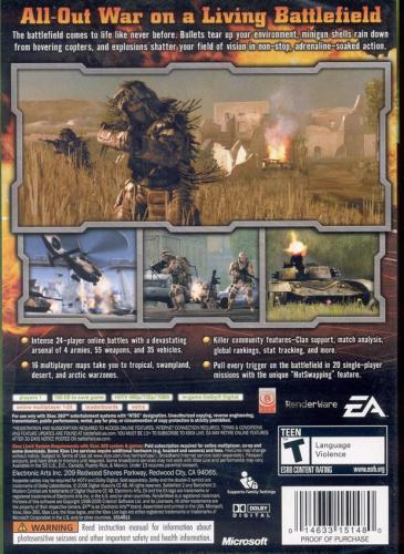 Battlefield 2: Modern Combat Back Boxart