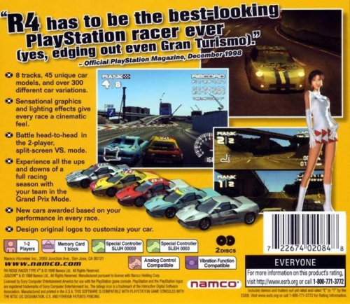 R4 Ridge Racer Type 4 Back Boxart