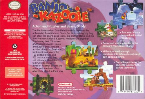 Banjo-Kazooie Back Boxart