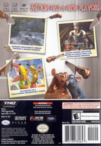 Ratatouille Back Boxart