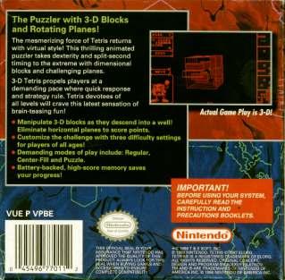 3-D Tetris Back Boxart