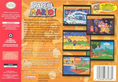 Paper Mario Back Boxart