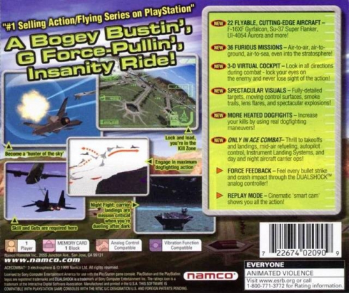Ace Combat 3: Electrosphere Back Boxart