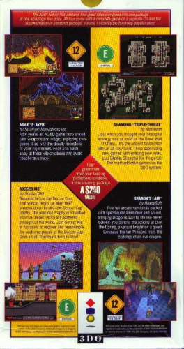 3DO Action Pack Back Boxart