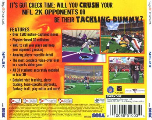 NFL 2k Back Boxart