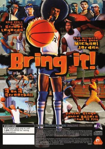 NBA Street Back Boxart