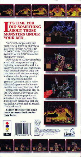 Advanced Dungeons & Dragons: Slayer Back Boxart