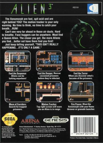Alien 3 Back Boxart