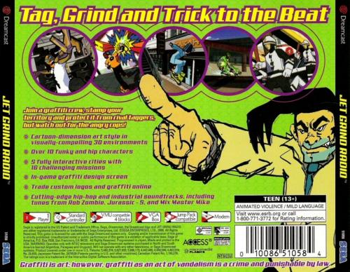 Jet Grind Radio Back Boxart