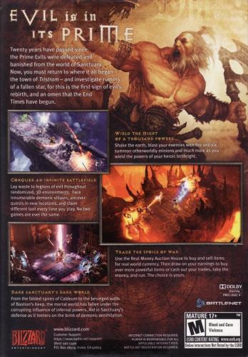Diablo III Back Boxart
