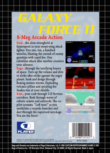 Galaxy Force II Back Boxart