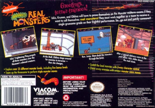 AAAHH!!! Real Monsters Back Boxart