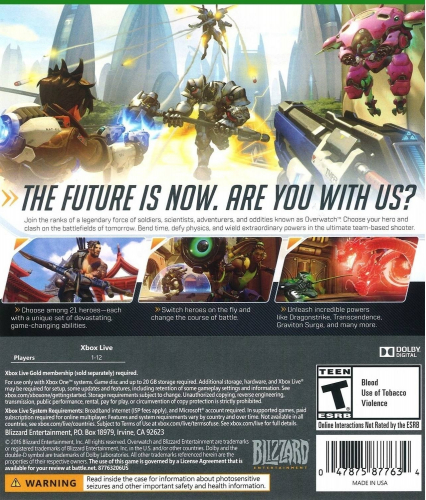 Overwatch (Origins Edition) Back Boxart