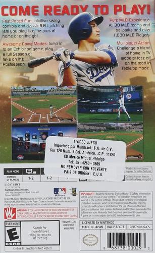 R.B.I. Baseball 2017 Back Boxart