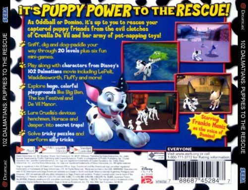 Disney's 102 Dalmatians: Puppies to the Rescue Back Boxart