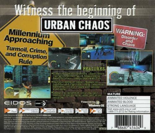 Urban Chaos Back Boxart