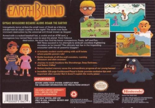 EarthBound Back Boxart