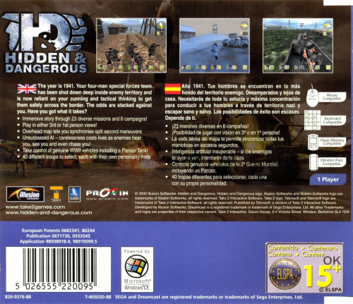 Hidden & Dangerous Back Boxart